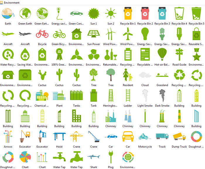 environment infographic elements