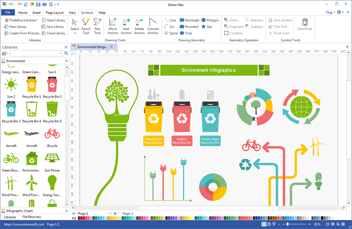 Create Environment Infographics with Built-in Elements