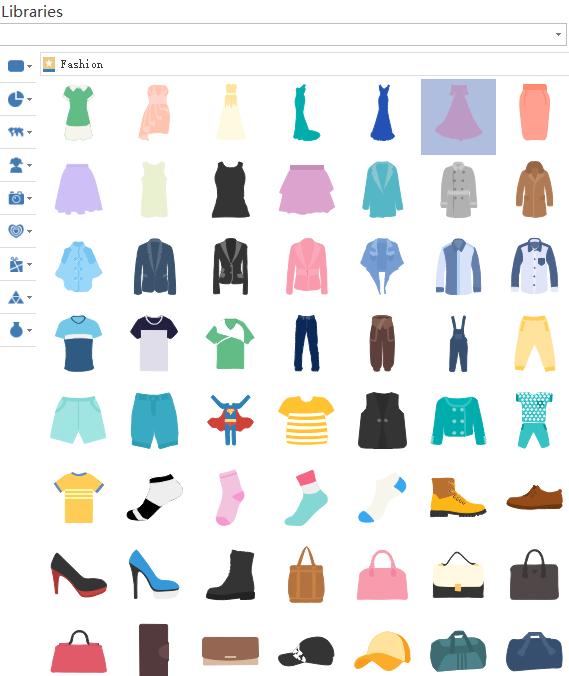 Drag Fashion Symbols