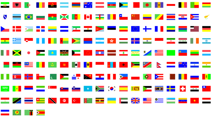 flag infographic vector elements