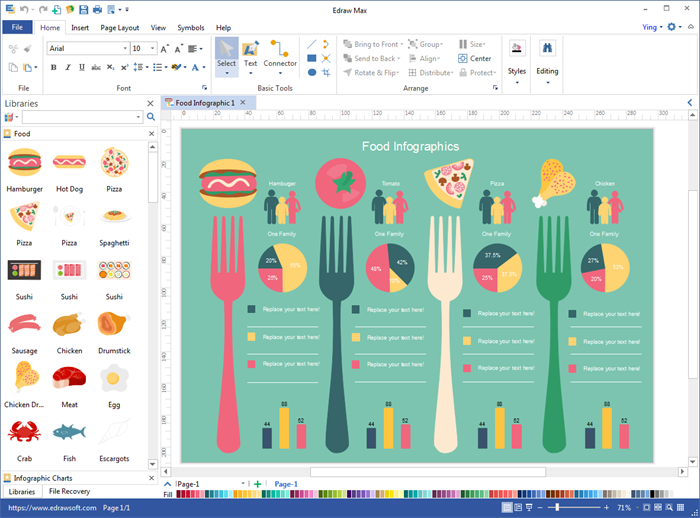 Create Food Infographics with Pre-made Elements
