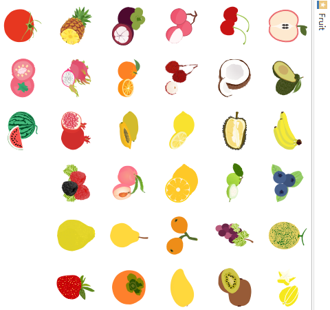 fruit infographic elements