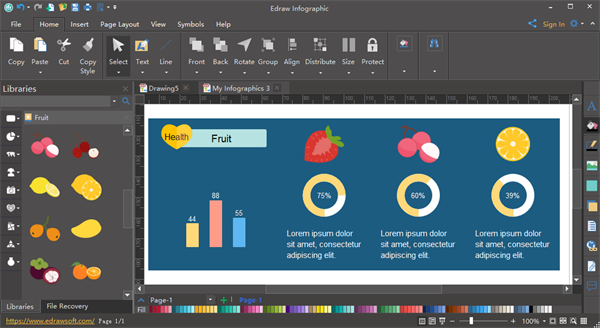 Fruit Infographic Software