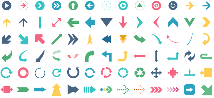 infographics flat arrows
