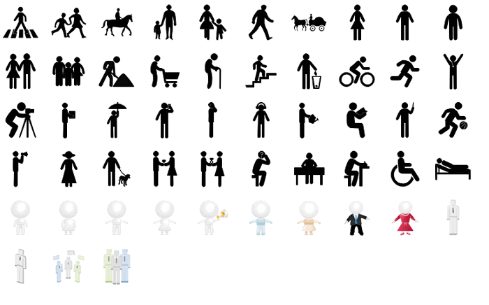 infographic people activity pictogram icons