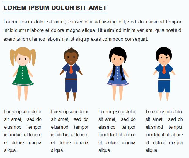 Exemples d'application des gens de différentes professions dans l'infographie 2