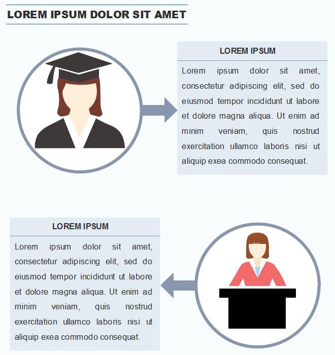 Exemples d'application des gens de différentes professions dans l'infographie 3