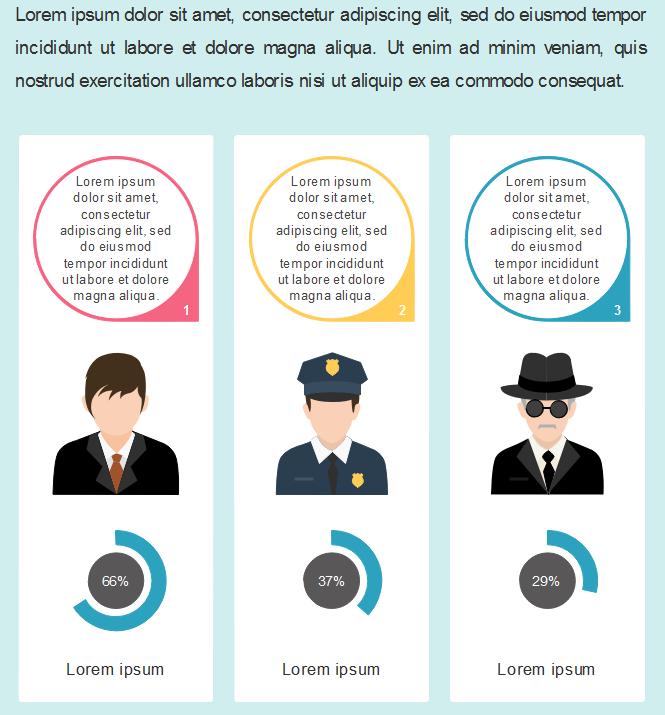 Exemples d'application des gens de différentes professions dans l'infographie 4
