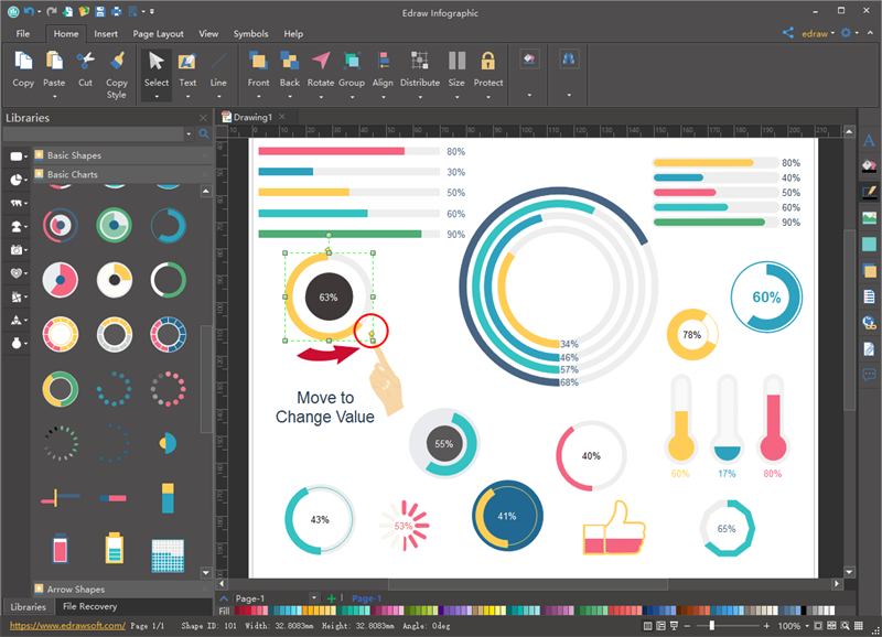infographics Charts Software
