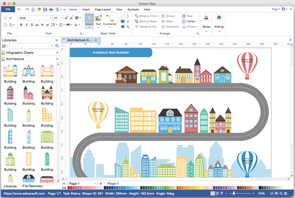 Infographics Visio Alternative