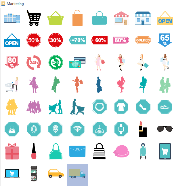 marketing infographics elements