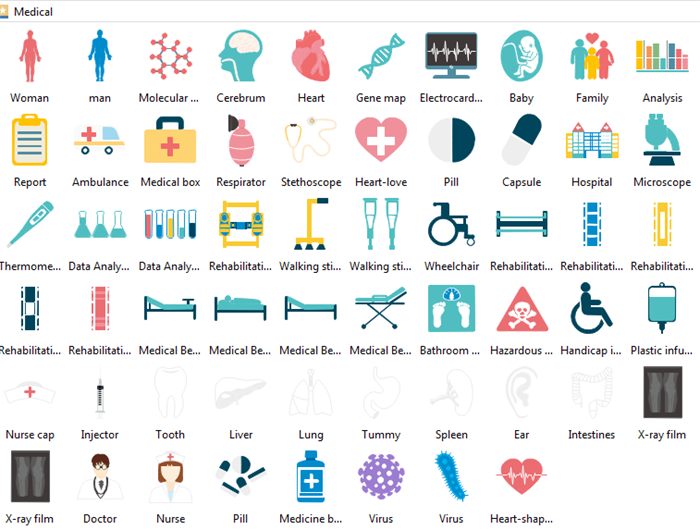 Editable Medical Infographic Elements