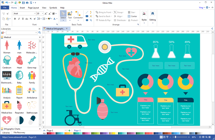 Infographic software maker