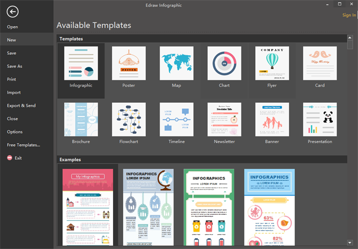 Open An Infographic Template