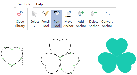 Pen Tool for Flower and Leaf Elements