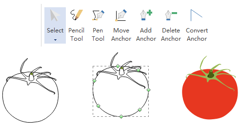 Pen Tool for Fruit Infographic Elements