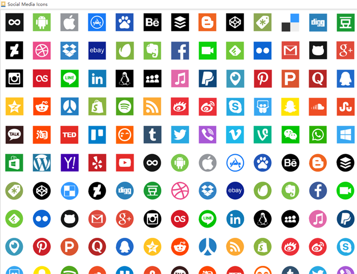 200+ Best Free Social Media icons for Infographic Design