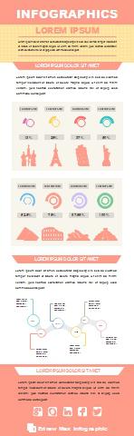 Modèle vierge d'infographie - médias sociaux 2