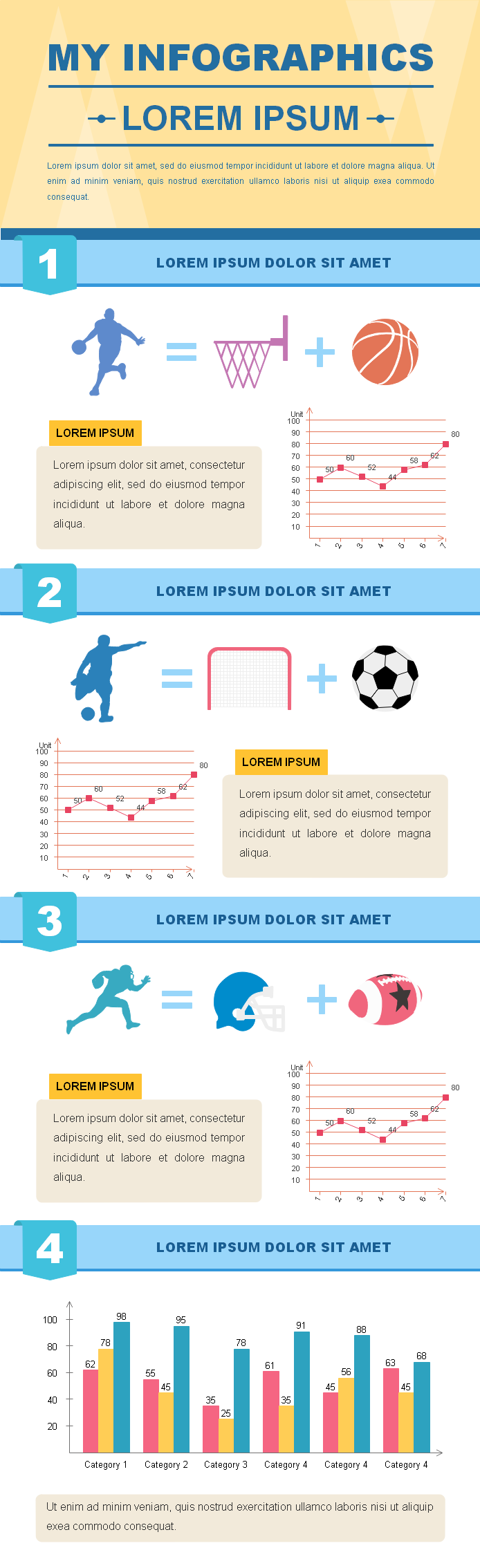 Designed Sport Infographics Examples