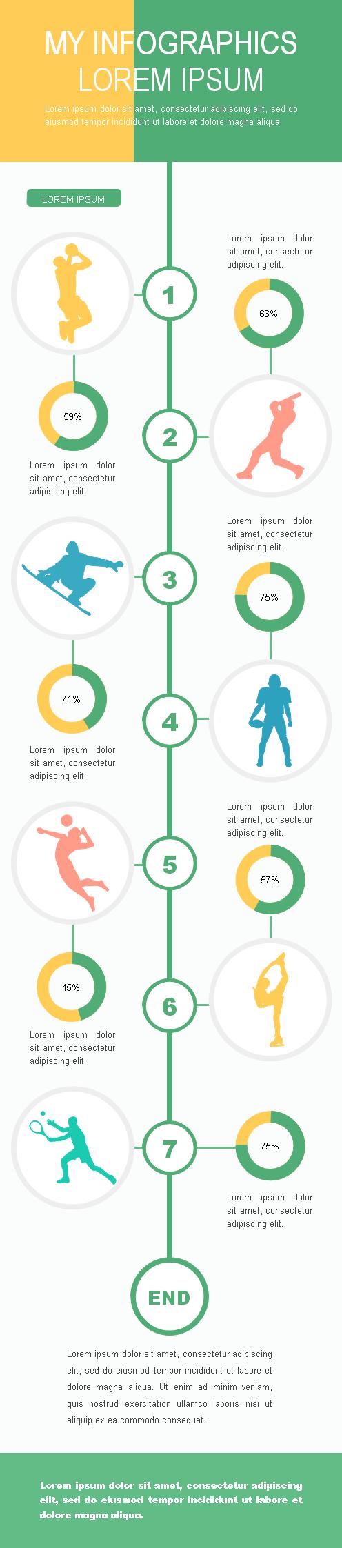 modèle vierge d'infographie sportive