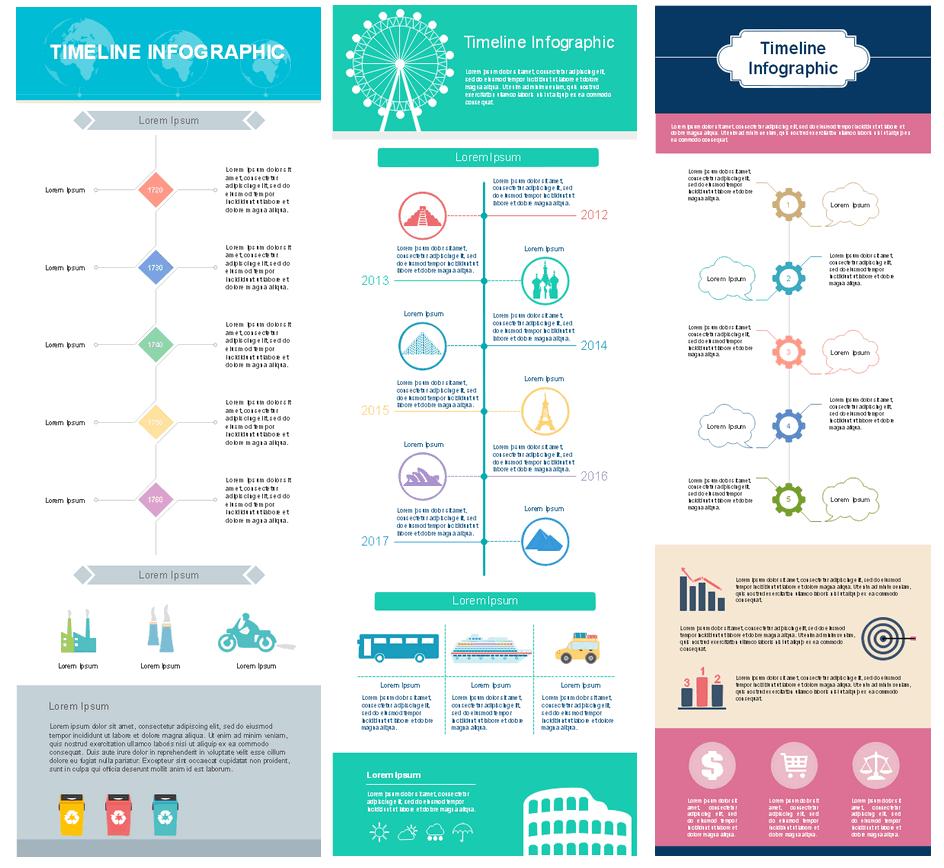 Zeitlinien-Infografiken