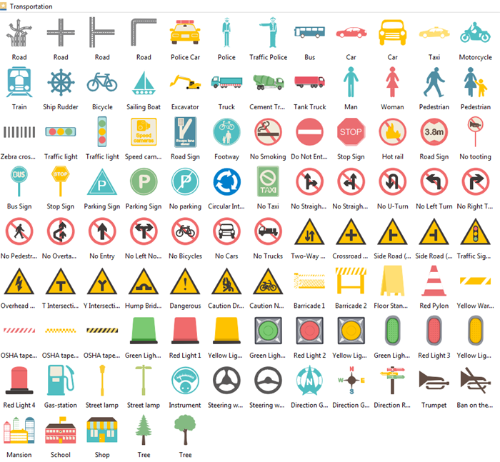 transportation infographic elements