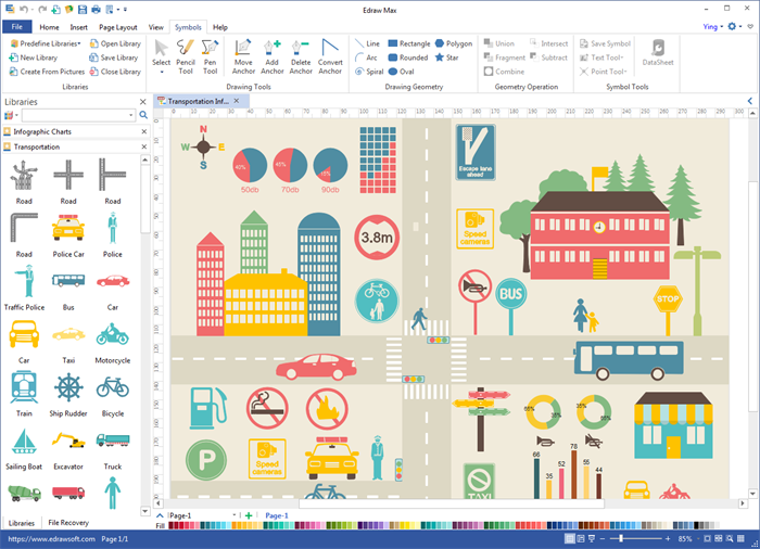 Create Transportation Infographics with Built-in Elements