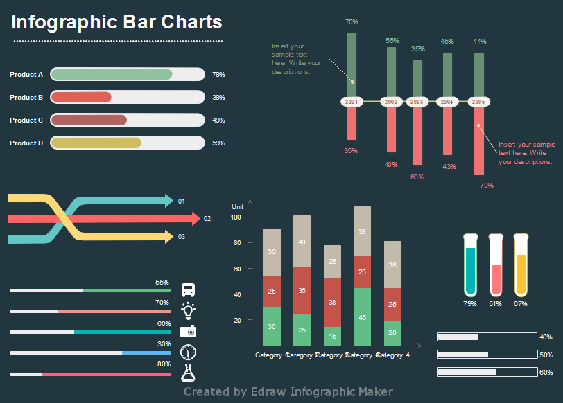 vector infographics Bar Charts