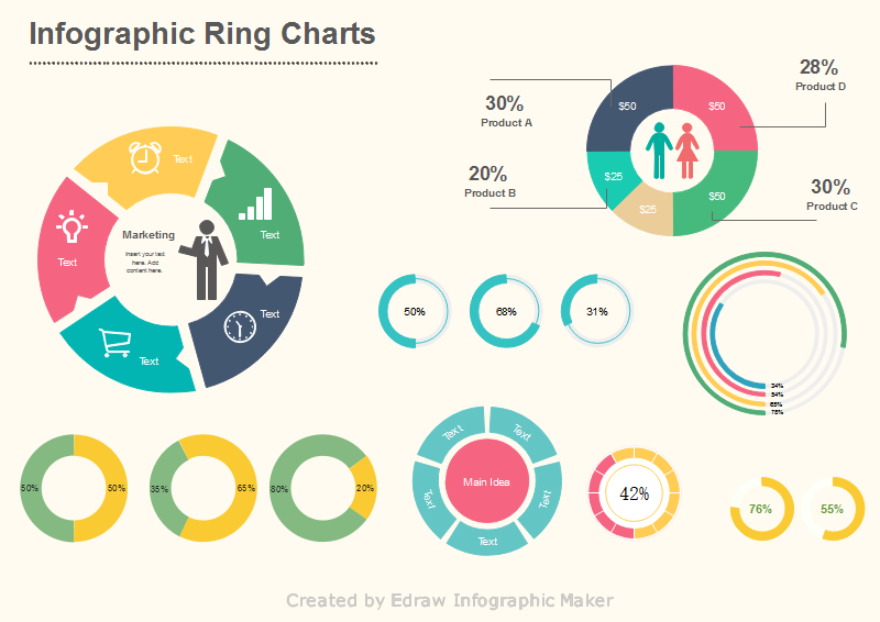 6 most popular charts used in infographics infographics ring charts ccuart Images
