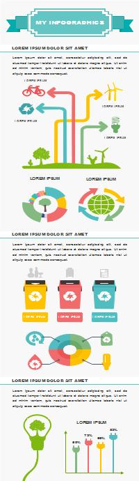 Plantilla editable de infografía de guía de entorno