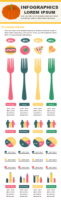Plantilla de infografía de análisis de alimentos