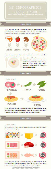 Plantilla de infografía de cocina de alimentos
