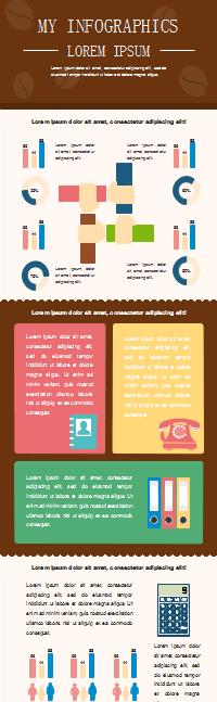 Infografía de trabajo empresarial