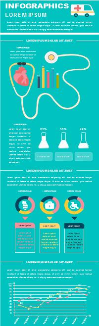 Infografía de tratamiento médico