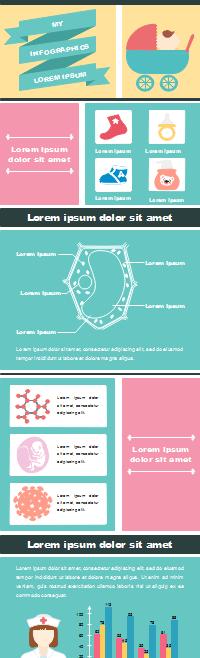 Plantilla de infografía de un recién nacido