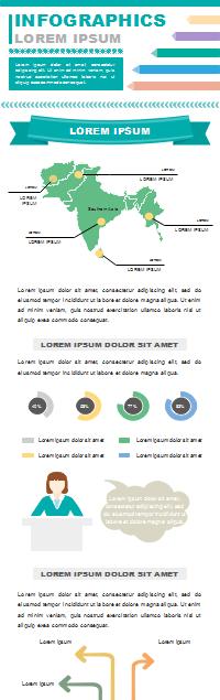 Infografía de educación regional editable