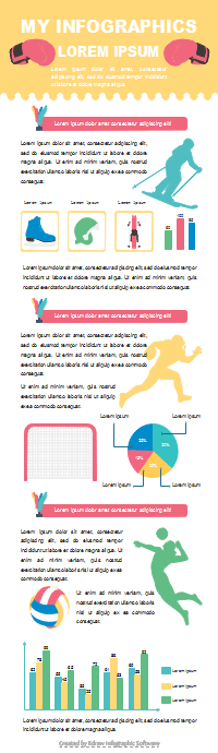 Sport Report Infographic Template