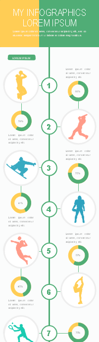 Sport Types Infographic Template