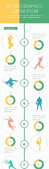 Plantilla de infografía de tipos de deporte