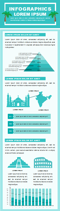 Plantilla de infografías de estadísticas de turismo