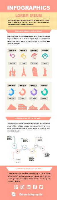 Plantilla de infografía de línea de tiempo de turismo