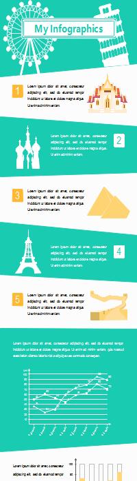 Infografía de destino de viaje