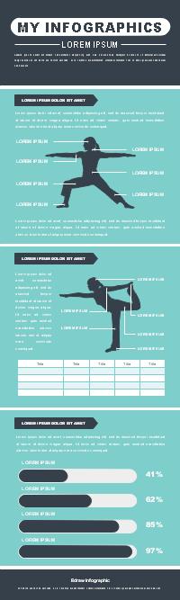 Plantilla de infografía de yoga