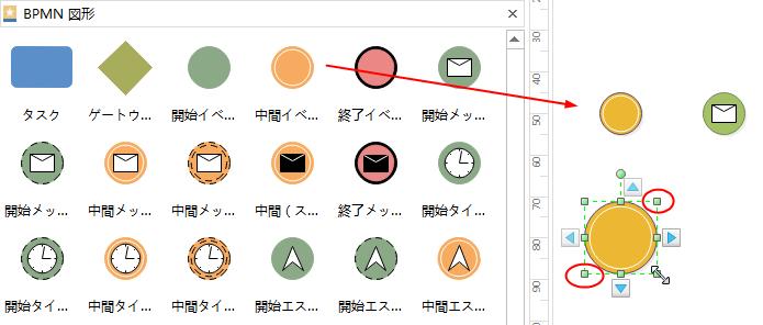 BPMN 図形の添加