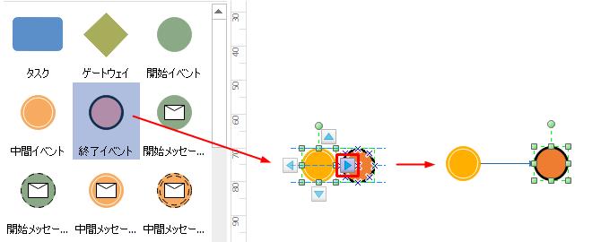 図形を自動接続