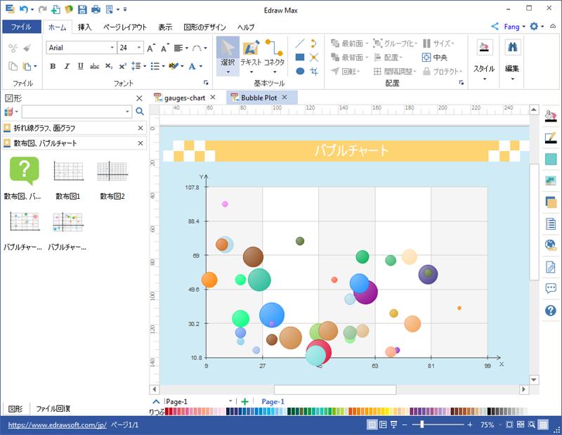 バブルチャート作成ソフト