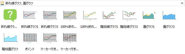 折れ線グラフ図形