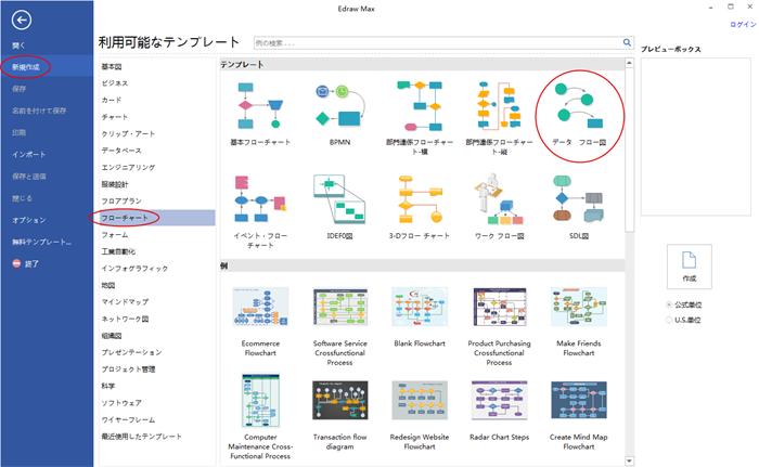 データフロー図作成ソフト