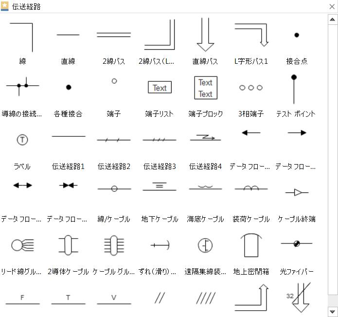 電気-伝送経路記号