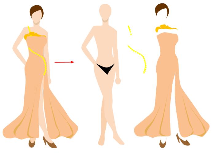 ベクターファッションデザイン要素